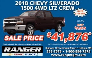 2018 Chevy Silverado 1500 4WD LTZ Crew