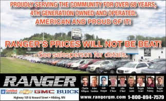 Ranger's Prices Will Not Be Beat!
