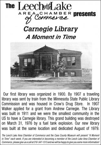 Carnegie Library A Moment In Time