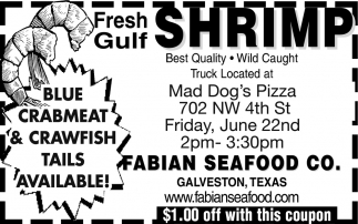 Fresh Gulf Shrimp, Fabian Seafood Co