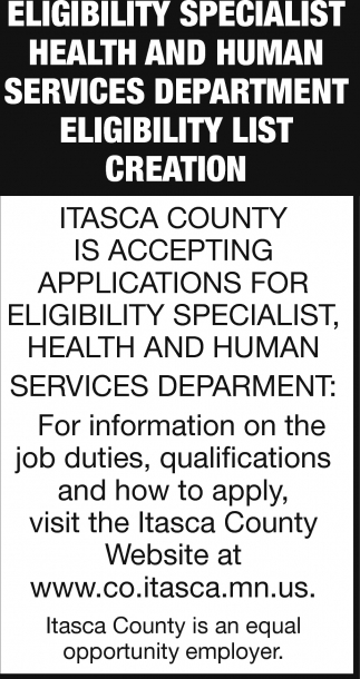Eligibility Specialist Health And Human Services
