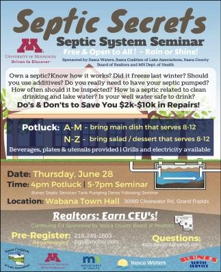 Septic System Seminar