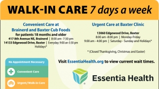 Walk-In Care 7 days a week