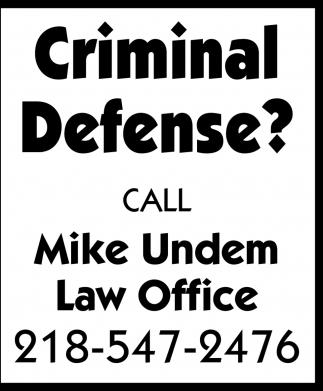 Criminal Defense?