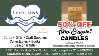 50% Off Time & Again Candles