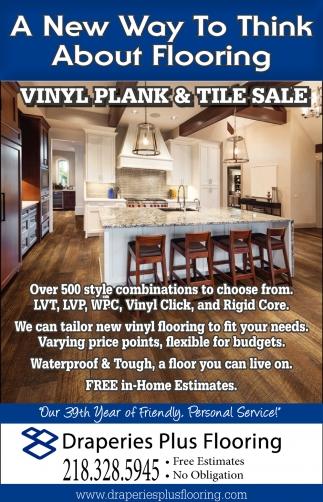 Vinyl Plank & Tile Sale