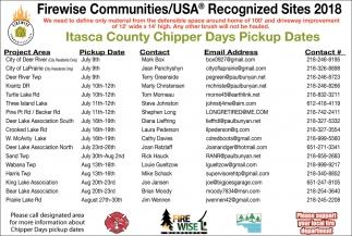 Chipper Days Pickup Dates