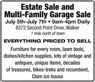 Estate Sale And Multi Family Garage Sale Garages Sales