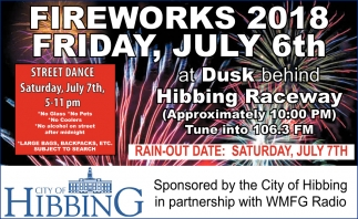 Fireworks 2018 Friday, July 6th
