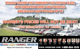 Ranger's Prices Will Not Be Bear!