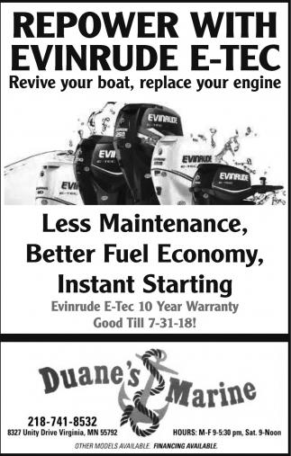 Repower With Evinrude E-Tec