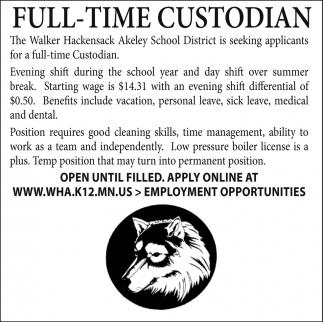 Full-Time Custodian