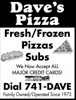 Fresh/Frozen Pizzas, Subs