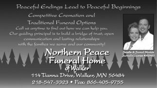 Northern Peace Funeral Home Of Walker