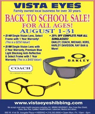 Annual Trunk Show Frame & Sunglasses Sale