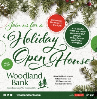 Join Us For A Holiday Open House , Woodland Bank