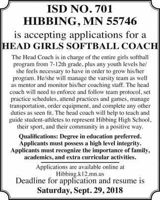Softball Coach