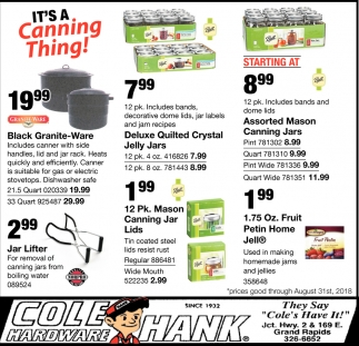 Its A Canning Thing Cole Hardware Grand Rapids Mn