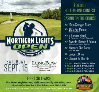 Nice Northern Lights Open Golf Tournament , Northern Lights Casino Hotel And  Event Center, Walker, MN