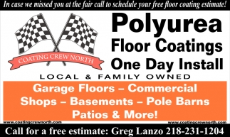 Polyurea Floor Coatings One Day Install