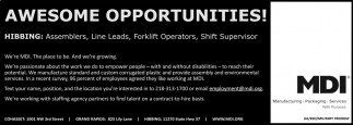 Awesome Opportunities!
