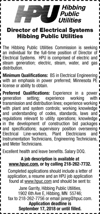 Director Of Electrical Systems