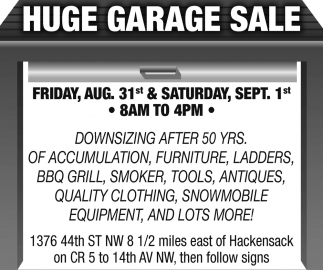 Huge Garage Sale Garage Sale Walker Mn
