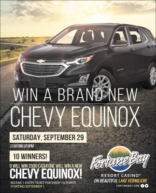 Win A Brand New Chevy Equinox