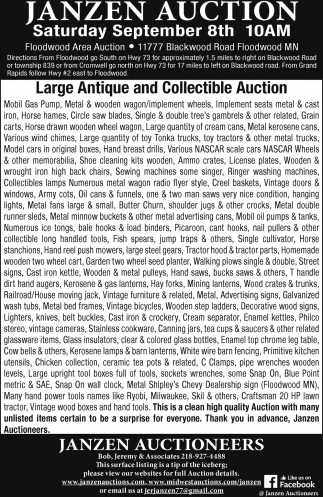 Large Antique And Collectible Auction