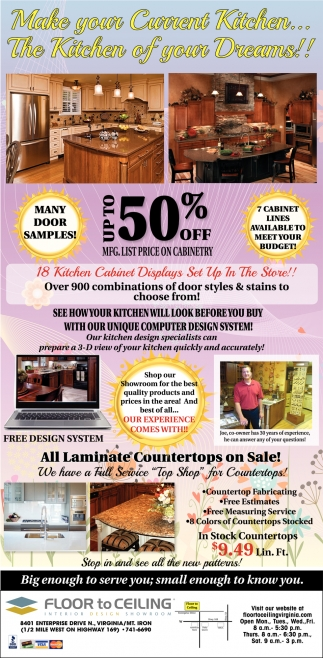 All Laminate Countertops On Sale!
