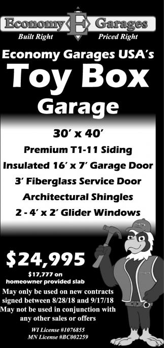 Toy Box Garage