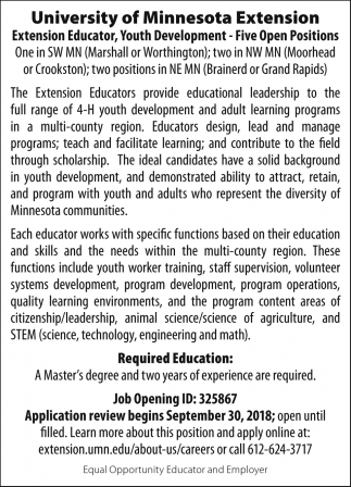 Extension Educator