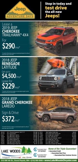Jeep Adventure Days, Lake Woods Chrysler, Grand Rapids, MN