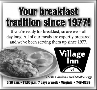 Your Breakfast Tradition Since 1977!
