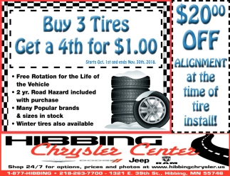 Buy 3 Tires And Get A 4th For $1.00