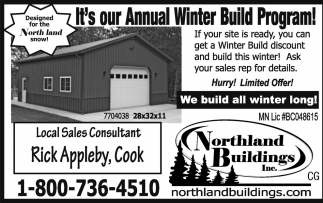 It's Our Annual Winter Build Program!