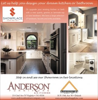 Let Us Help You Design Your Dream Kitchen Or Bathroom, Anderson Furniture,  Duluth, MN