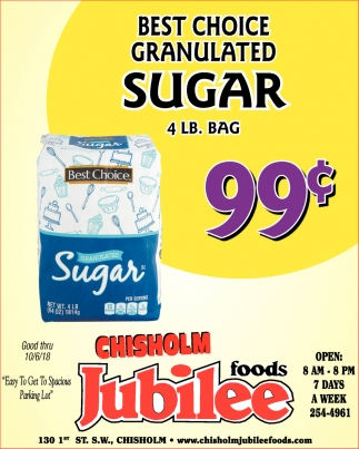 Best Choice Granulated Sugar