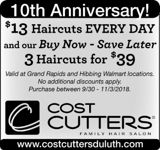 Family Service Salon Cost Cutters Family Hair Salon Hibbing Mn