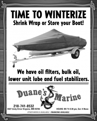 Time To Winterize