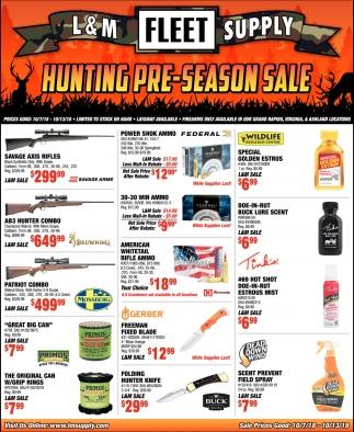 Hunting Pre-Season Sale