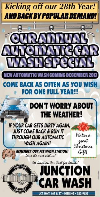 Our annual automatic car wash special junction car wash ads for junction car wash in hibbing mn solutioingenieria Image collections