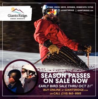 Season Passes On Sale Now