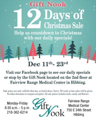 12 Days Of Christmas Sale , Gift Nook , Hibbing, MN