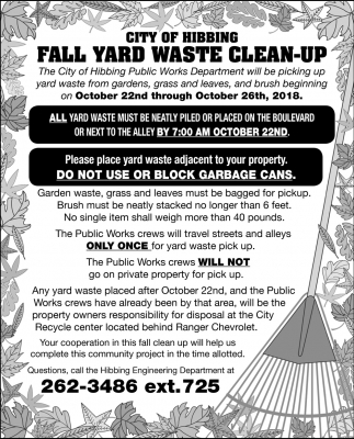 Fall Yard Waste Clean-Up