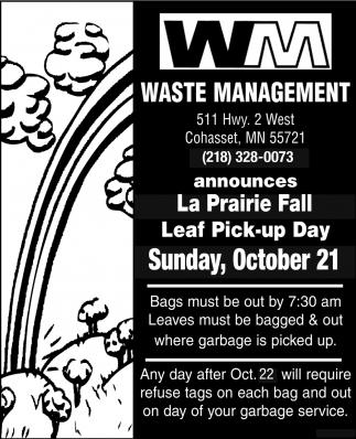 Leaf Pick-Up Day