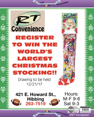 Register To Win The World's Largest Christmas Stocking!!