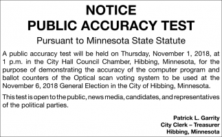 Notice To Voters