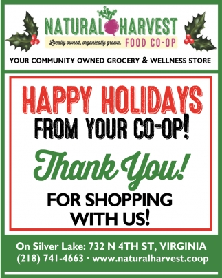 Happy Holidays From Your Co-Op!