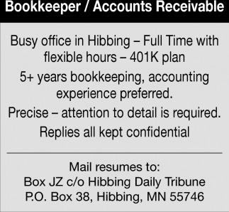 Bookkeeper/Accounts Receivable